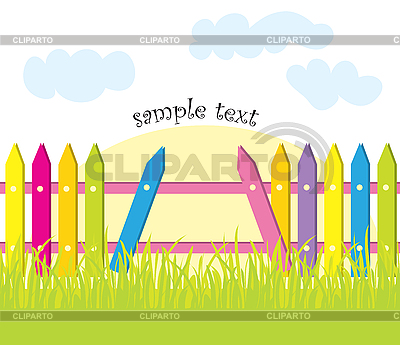 Fence and grass | Stock Vector Graphics |ID 3057086