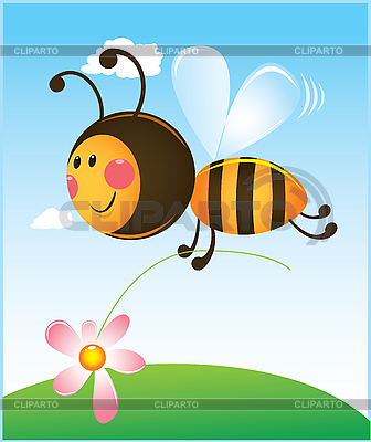 Bee and flower | Stock Vector Graphics |ID 3079501
