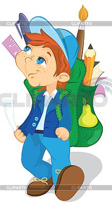 Chłopak z plecakiem | Klipart wektorowy |ID 3079505