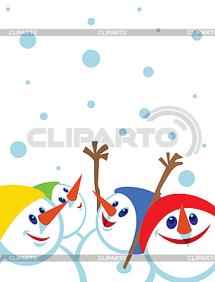 Christmas card with snowmen | Stock Vector Graphics |ID 3106947