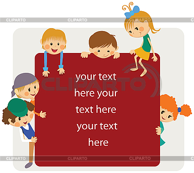 Kids frame for notice   Stock Vector Graphics  ID 3125693