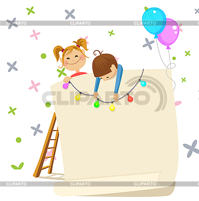 Children party invitation | Klipart wektorowy |ID 3125699