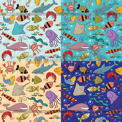 Seamless background - underwater wildlife   Stock Vector Graphics  ID 3338142