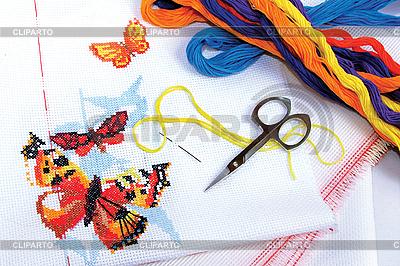 Cross-stitch | Foto stockowe wysokiej rozdzielczości |ID 3052155