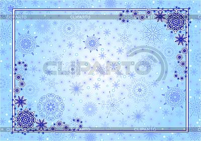 Blue Christmas Frame | Stock Vector Graphics |ID 3052301