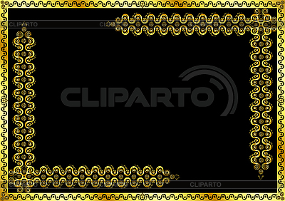 Gold pattern frame with ornaments | Stock Vector Graphics |ID 3052755