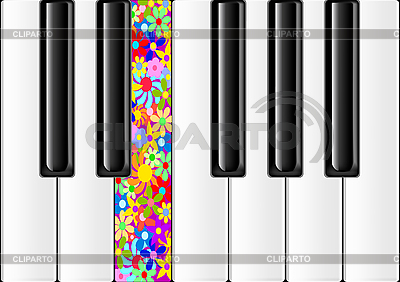 Classic Piano With Colorful Key | Stock Vector Graphics |ID 3052832