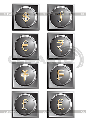 Money buttons | Stock Vector Graphics |ID 3062373