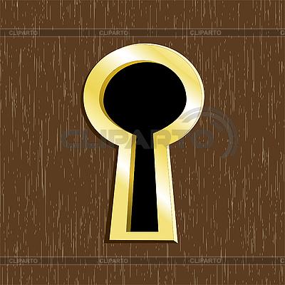 Door keyhole of golden metal  | Stock Vector Graphics |ID 3062596