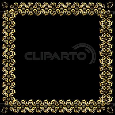 Złoty ozdobne ramki | Klipart wektorowy |ID 3078351