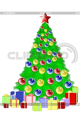 선물 크리스마스 트리 | 벡터 클립 아트 |ID 3078357