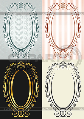 Oval frames in antique style | Stock Vector Graphics |ID 3082111