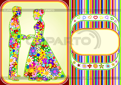 Flower man and woman | Stock Vector Graphics |ID 3088406