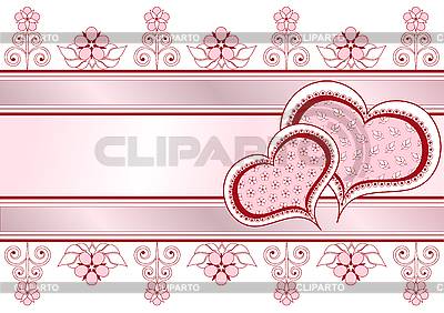 Valentine postcard with hearts | Stock Vector Graphics |ID 3103259