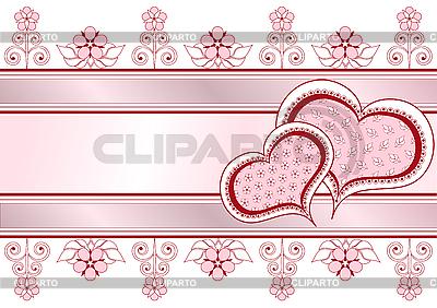 Valentinstagkarte mit Herzen | Stock Vektorgrafik |ID 3103259