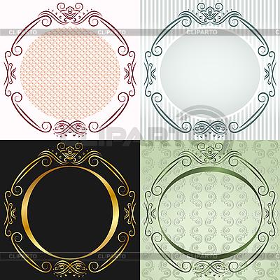 Okrągłe ramki w stylu antycznym | Klipart wektorowy |ID 3109581
