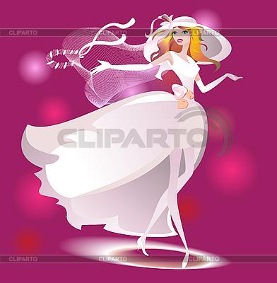 Braut mit Blumenstrauß | Stock Vektorgrafik |ID 3063225