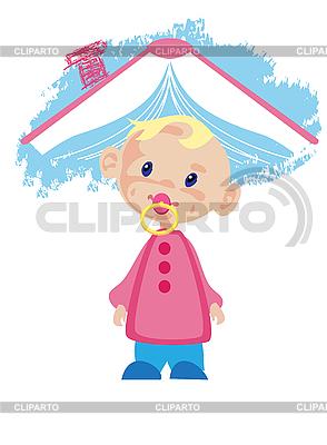 Dziecko i książka | Klipart wektorowy |ID 3072164