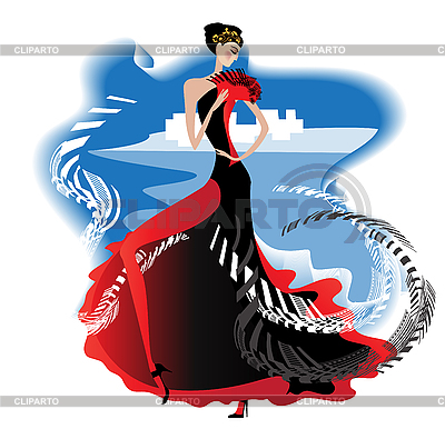 Flamenco | Klipart wektorowy |ID 3078806