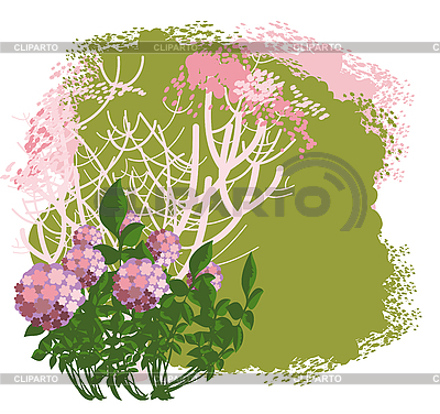 Flowering bush | Stock Vector Graphics |ID 3078818