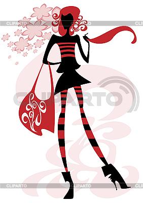 Girl with big bag | Stock Vector Graphics |ID 3078839