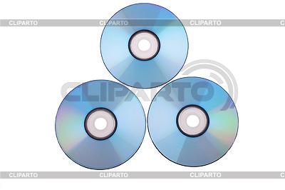 Three DVD discs | High resolution stock photo |ID 3052170