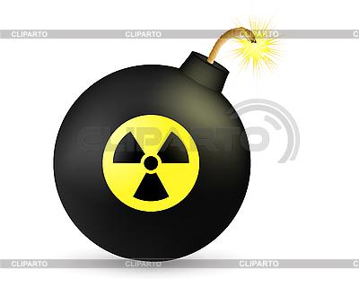 Bomb ze znakiem promieniowania | Klipart wektorowy |ID 3052350