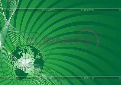 Business background with green world globe | Stock Vector Graphics |ID 3059351