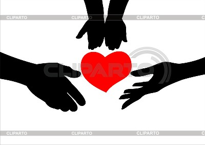 Hands and heart   Stock Vector Graphics  ID 3059365