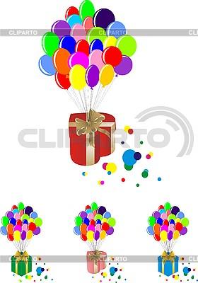 Powietrze balony mit pudełka | Klipart wektorowy |ID 3059371
