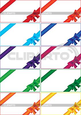 Set von farbigen Geschenk-Bändern | Stock Vektorgrafik |ID 3059391