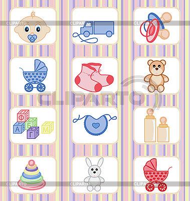 Dziecko zbiór ikon | Klipart wektorowy |ID 3067305