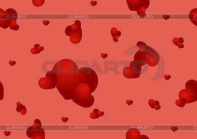 빨간색 마음과 원활한 패턴   벡터 클립 아트  ID 3121784