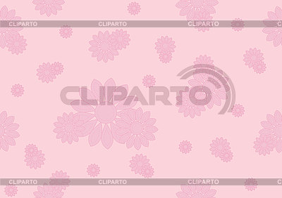 Seamless pattern with pink flowers | Stock Vector Graphics |ID 3121786