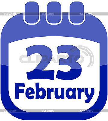 달력 아이콘 2월 23일 | 벡터 클립 아트 |ID 3126611