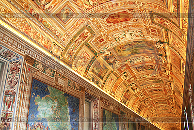 Italy. Vatican Museums. Gallery of the Geographical Maps  | 높은 해상도 사진 |ID 3112262