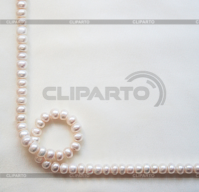 Smooth elegant white silk with pearls as wedding background  | High resolution stock photo |ID 3112968