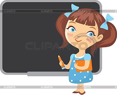 Girl at school blackboard | Stock Vector Graphics |ID 3123429