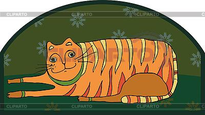 Big Striped Cat   Stock Vector Graphics  ID 3211747