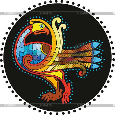 Motley Celtic Bird Circle | Ilustración vectorial de stock |ID 3280386