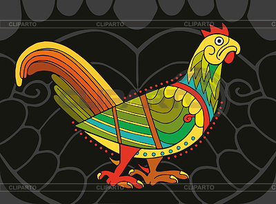Motley Celtic Cock | Stock Vector Graphics |ID 3280390