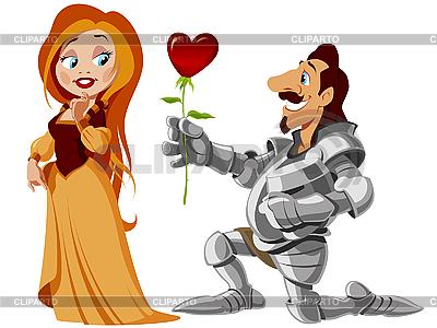 Prinzessin und Ritter | Stock Vektorgrafik |ID 3053141