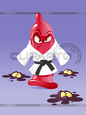 Karate condom | Klipart wektorowy |ID 3126631