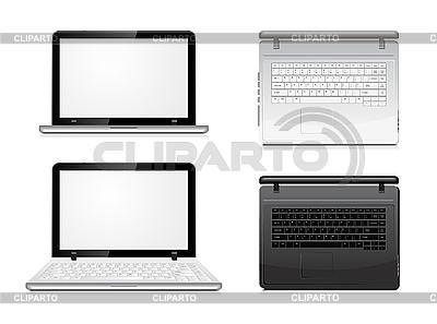 Laptop - Ansicht von vorne und oben | Stock Vektorgrafik |ID 3138438
