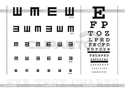Wykresów badania wzroku | Klipart wektorowy |ID 3139536