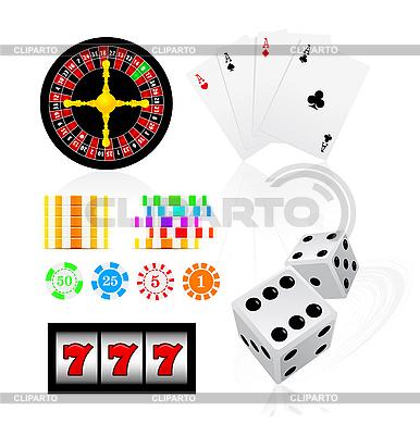 Zestaw gier hazardowych | Klipart wektorowy |ID 3140070