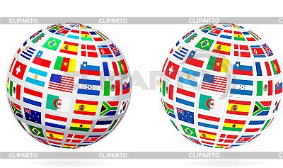 Flaga globu kuli | Klipart wektorowy |ID 3140109