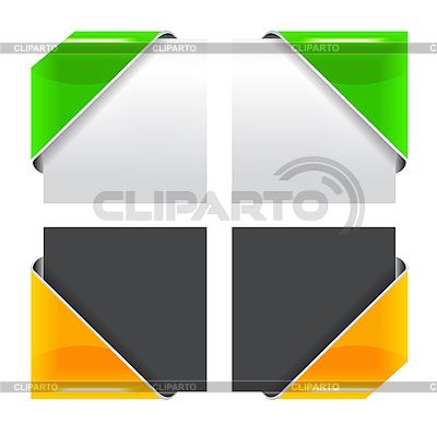 색 코너 리본 세트 | 벡터 클립 아트 |ID 3140245