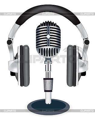 Headphones with microphone | Stock Vector Graphics |ID 3143264