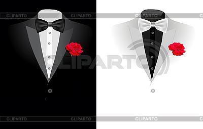 黑色西装 | 向量插图 |ID 3143901